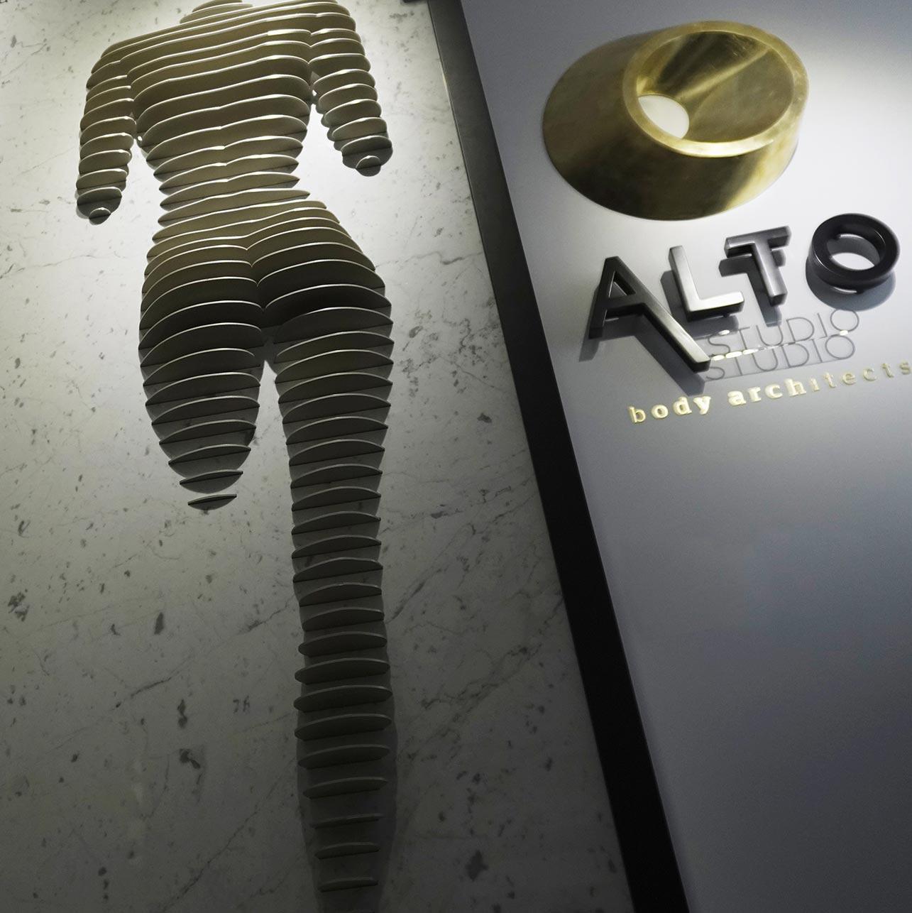 arhitectura corporala silueta 3d si logo