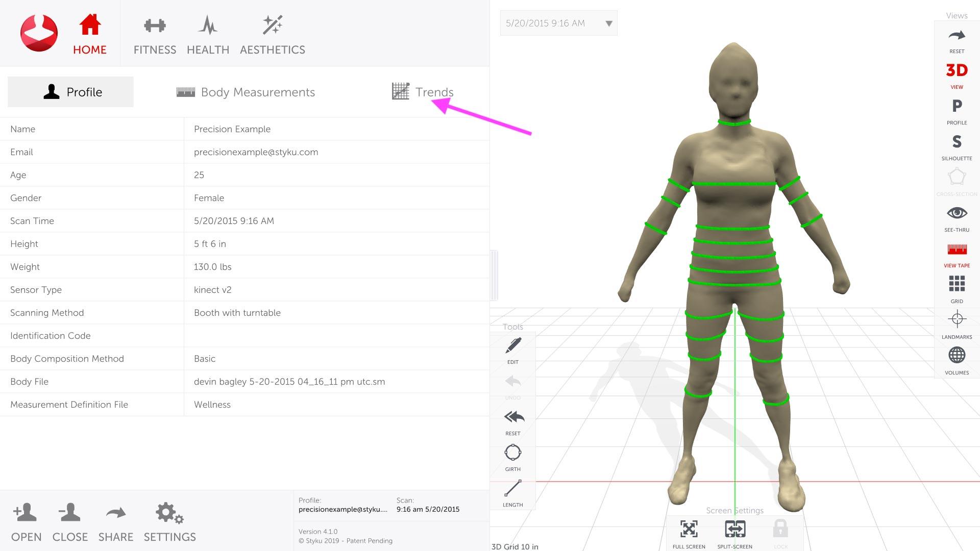 scanare corporala 3D styku